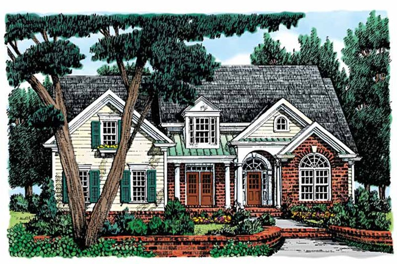 Colonial Exterior - Front Elevation Plan #927-837