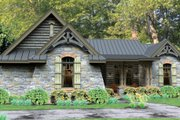 Bungalow Style House Plan - 3 Beds 2.5 Baths 2234 Sq/Ft Plan #120-245 Exterior - Front Elevation
