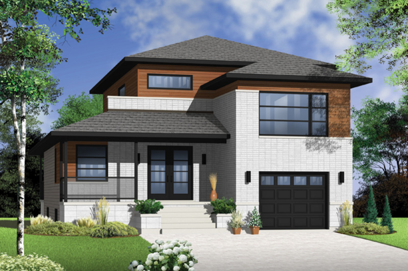 Contemporary Exterior - Front Elevation Plan #23-2580 - Houseplans.com