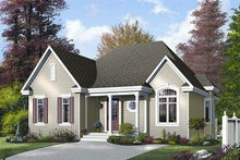 House Plan Design - Cottage Exterior - Front Elevation Plan #23-688