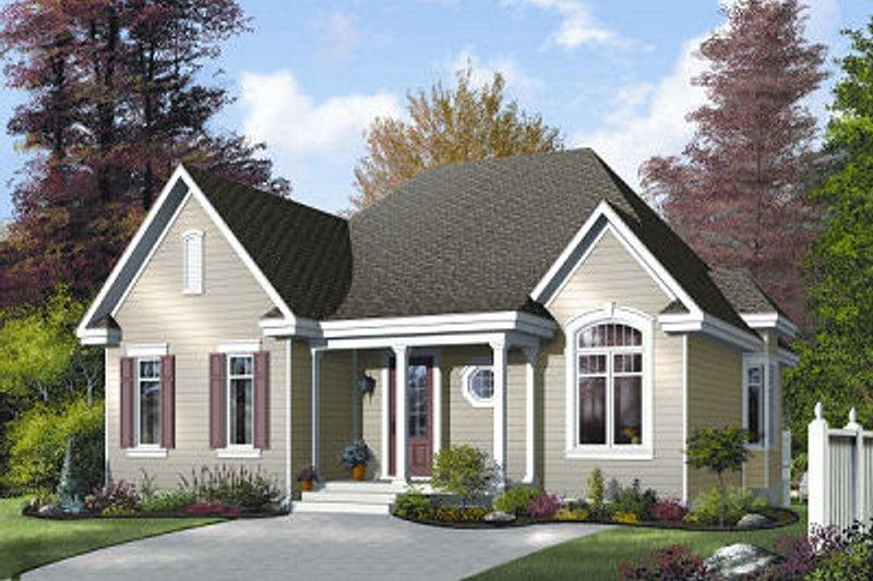 House Plan Design - Cottage Exterior - Front Elevation Plan #23-688