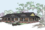 Ranch Style House Plan - 4 Beds 3 Baths 2415 Sq/Ft Plan #60-292