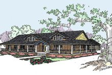 Ranch Exterior - Front Elevation Plan #60-292