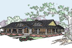Dream House Plan - Ranch Exterior - Front Elevation Plan #60-292