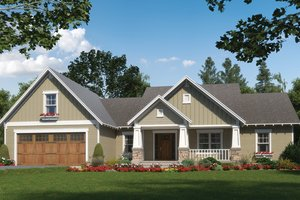 Craftsman Exterior - Front Elevation Plan #21-432