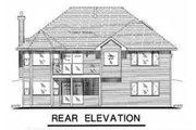 Traditional Style House Plan - 4 Beds 2 Baths 1985 Sq/Ft Plan #18-1003 Exterior - Rear Elevation