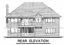 Dream House Plan - Traditional Exterior - Rear Elevation Plan #18-1003