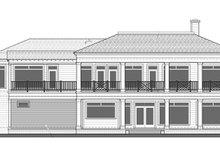 Classical Exterior - Rear Elevation Plan #1058-83