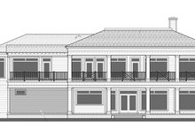 Classical Exterior - Rear Elevation Plan #1058-83