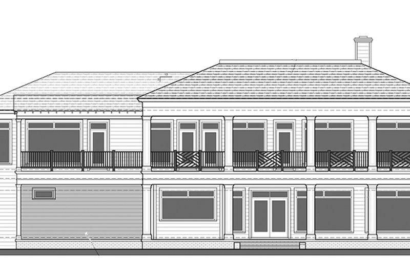 Classical Exterior - Rear Elevation Plan #1058-83 - Houseplans.com