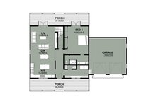 Farmhouse Floor Plan - Main Floor Plan Plan #497-9