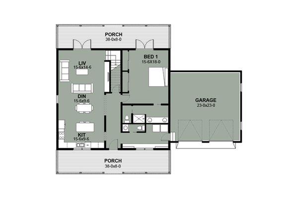 Farmhouse Floor Plan - Main Floor Plan Plan #497-9