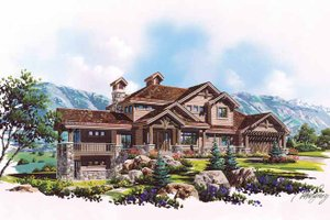 Craftsman Exterior - Front Elevation Plan #945-70
