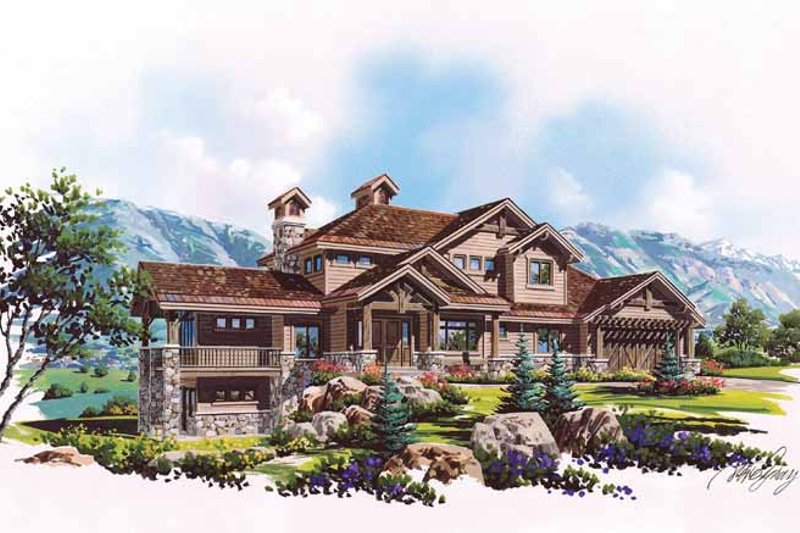 Craftsman Exterior - Front Elevation Plan #945-70