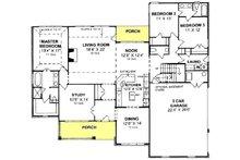 Country Floor Plan - Main Floor Plan Plan #513-2042
