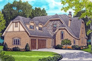European Exterior - Front Elevation Plan #413-829