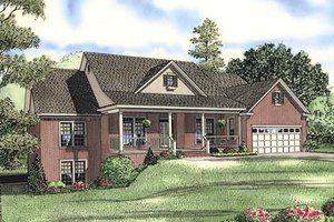 Country Exterior - Front Elevation Plan #17-645