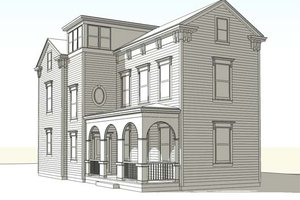 Colonial Exterior - Front Elevation Plan #477-2