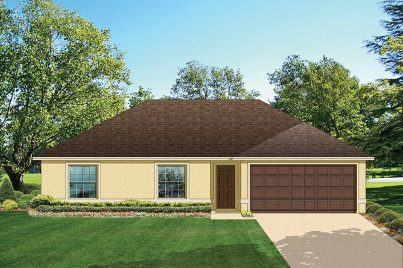 Architectural House Design - Ranch Exterior - Front Elevation Plan #1058-31