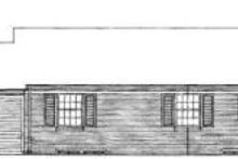 House Blueprint - Southern Exterior - Rear Elevation Plan #72-311