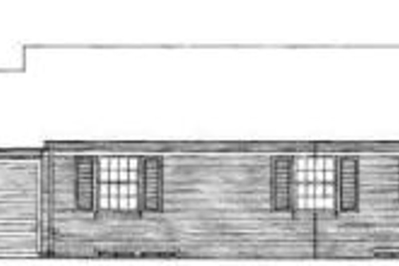 Southern Exterior - Rear Elevation Plan #72-311 - Houseplans.com