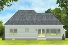 Dream House Plan - Ranch Exterior - Rear Elevation Plan #1010-179