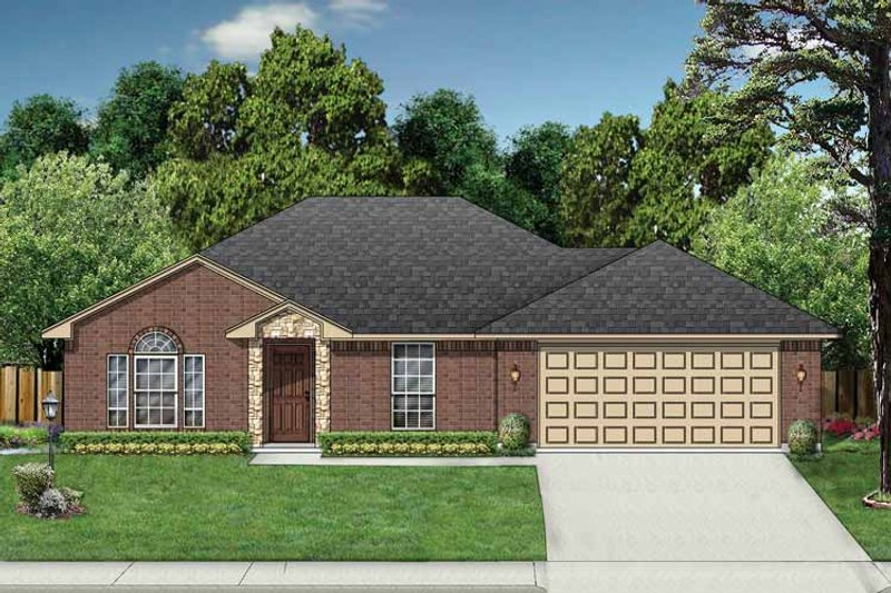 Traditional Exterior - Front Elevation Plan #84-657 - Houseplans.com