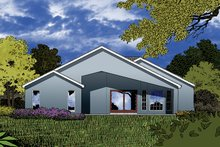 Architectural House Design - Mediterranean Exterior - Rear Elevation Plan #417-852