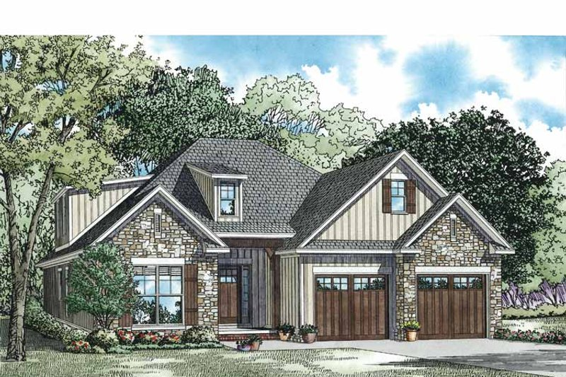 Country Exterior - Front Elevation Plan #17-3357 - Houseplans.com