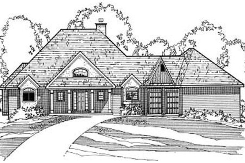 Southern Exterior - Front Elevation Plan #31-123