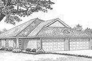 Traditional Style House Plan - 2 Beds 2 Baths 2298 Sq/Ft Plan #310-437 Exterior - Front Elevation