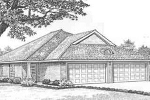 Traditional Exterior - Front Elevation Plan #310-437
