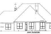 European Style House Plan - 3 Beds 3.5 Baths 2814 Sq/Ft Plan #52-120 Exterior - Rear Elevation