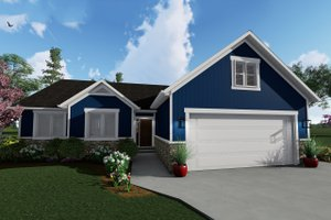 Ranch Exterior - Front Elevation Plan #1060-41