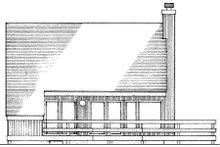 Cabin Exterior - Rear Elevation Plan #320-316