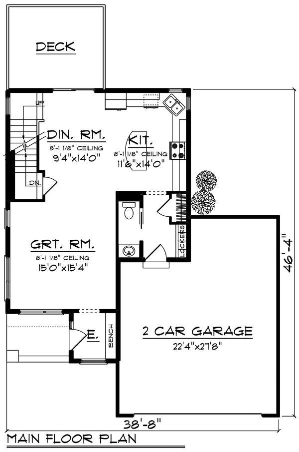 Modern Floor Plan - Main Floor Plan #70-1456