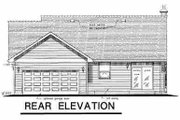 Traditional Style House Plan - 3 Beds 2 Baths 1394 Sq/Ft Plan #18-1037 Exterior - Rear Elevation