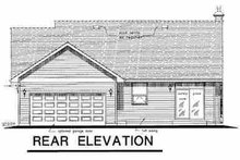 House Blueprint - Traditional Exterior - Rear Elevation Plan #18-1037