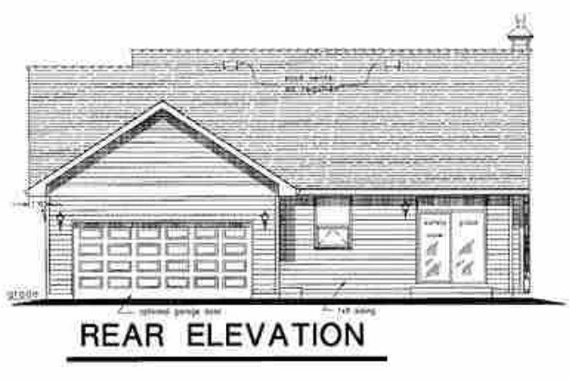 Traditional Exterior - Rear Elevation Plan #18-1037 - Houseplans.com