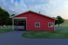 Architectural House Design - Ranch Exterior - Other Elevation Plan #126-205