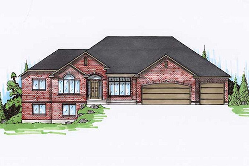 Traditional Exterior - Front Elevation Plan #5-263
