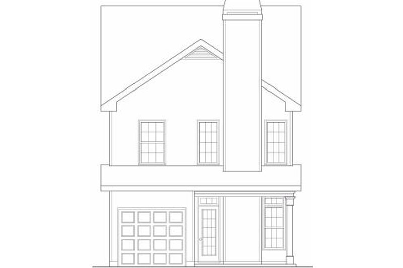 Craftsman Exterior - Rear Elevation Plan #419-178 - Houseplans.com
