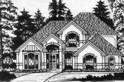 European Style House Plan - 4 Beds 2.5 Baths 2500 Sq/Ft Plan #40-364