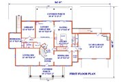 Colonial Style House Plan - 5 Beds 5 Baths 4430 Sq/Ft Plan #3-345 Floor Plan - Main Floor