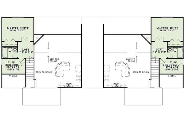 Dream House Plan - Cottage Floor Plan - Upper Floor Plan #17-2565