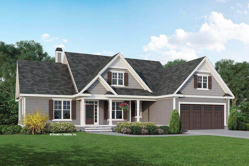 Architectural House Design - Craftsman Exterior - Front Elevation Plan #929-1125