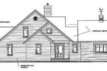 Cottage Exterior - Rear Elevation Plan #23-2069