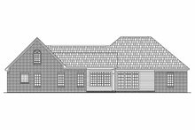 Dream House Plan - Traditional Exterior - Rear Elevation Plan #21-173