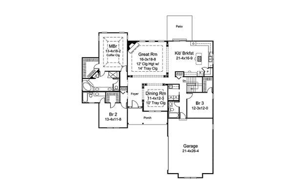 Ranch Floor Plan - Main Floor Plan Plan #57-662