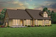 Craftsman Style House Plan - 3 Beds 2 Baths 2054 Sq/Ft Plan #48-956 Exterior - Rear Elevation